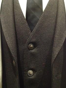 Dr [Lucien] Blake - Close-up of suite vest & tie