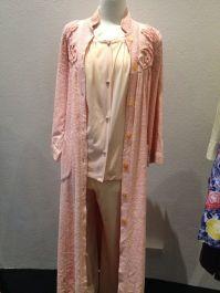 Jean - 'Vanity Fair' Pajamas & pink chenile dressing gown