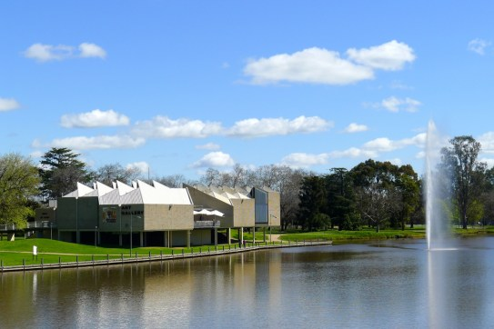 Benalla Art Gallery next to Lake Benalla