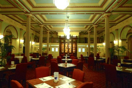 Dining room of the Carrington Hotel