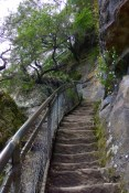 Easier than Giant Steps, but there are still a few steep steps to climb coming up the Furber Steps