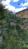 Katoomba Falls with Scenic Skyway (cable car) overhead