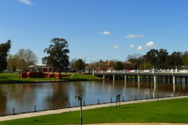 Looking back into town from the Art Gallery, Benalla