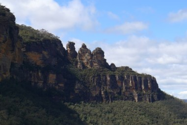 You get a good view of the Three Sisters from the Railway platform