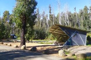 Nov 2014 - Shelter and toilet block at Sugarloaf Saddle Car Park