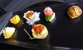 Most of the yummy morsels served on the way to MONA - two didn't make this photo!