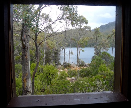 Nice view out the window of Nicholls Hut
