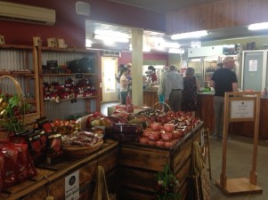 Part of the shop inside the Cherry Shed - Latrobe