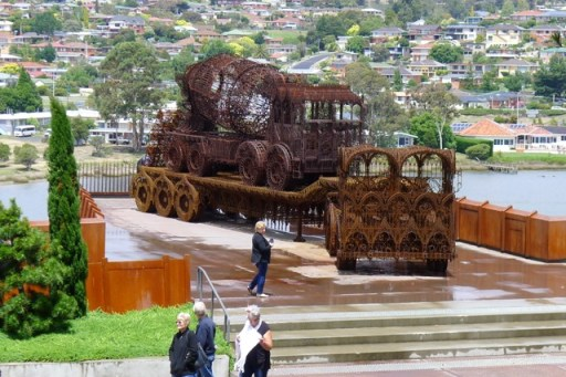Trucks made from steel lacework