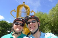 Stephen and me in from of the giant 2011 Rubgy World Cup in Hagley Park
