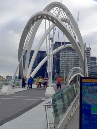Crossing the Seafarers Bridge