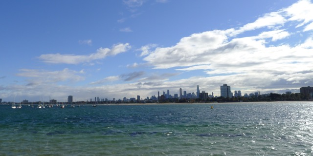 Melbourne city from St Kilda Pier