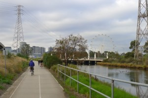 The wheel is in sight - means we're getting closer to Docklands