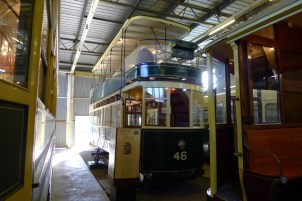A double-decker Hobart Tram - more signs of civilisation lost, as Hobart no longer runs trams or trolley buses
