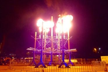 Fire Organ en flambe at 'Dark Park' during Dark Mofo
