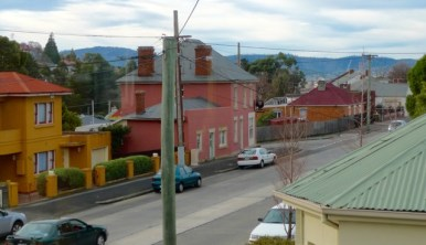 Le Provincal is a very, very short walk from the Firemans Loft - Cnr of Macquarie & Weld Streets, South Hobart