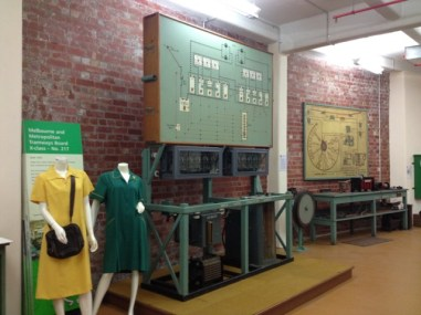 Old uniforms and euipment used to teach drivers