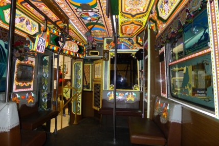 The inside of the W11 'Karatchi' Tram was quite amazing