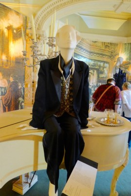 Dr Mac's Tuxedo - waistcoat of embroidered silk crepe, raw silk blouse, wool tuxedo with silk lapels