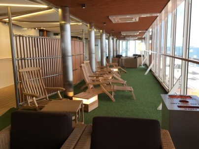Deckchairs and fake grass on Deck 10