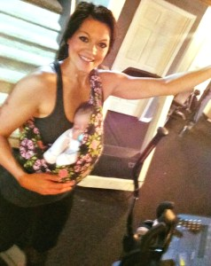 1st Postpartum workout for me and Stella!