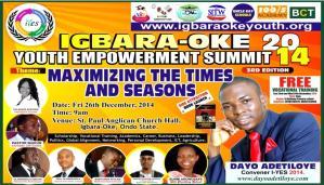 Welcome to Igbara-oke Youth Empowerment Summit 2014.