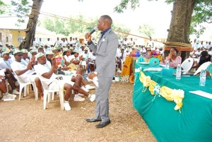 Dayo Adetiloye Speaking at NYSC Camp, Ekiti State on 11th May 2015