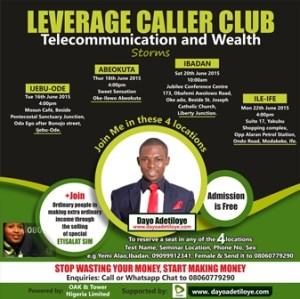 PICTURE: Leverage Caller Club Seminar In 4 Locations in Southwest, Nigeria.