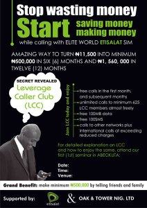 New Way of Making Money Fast From Etisalat Network In Nigeria