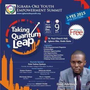 ATTEND IGBARA-OKE YOUTH EMPOWERMENT SUMMIT 2015