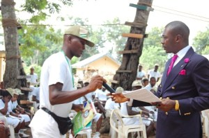 Photos: Dayo Adetiloye Speaking @ NYSC CAMP Ekiti State on Starting, Growing, and Expanding Your Business.