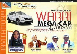 Warri H2i Car Award November 2016