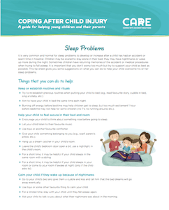 CARE Sleep-help-injured-children