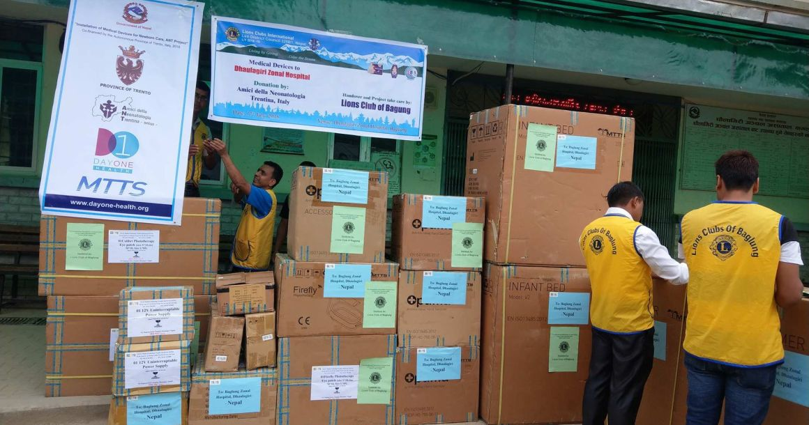 Newborn Care Medical Equipment Given to Nepal Government Hospitals