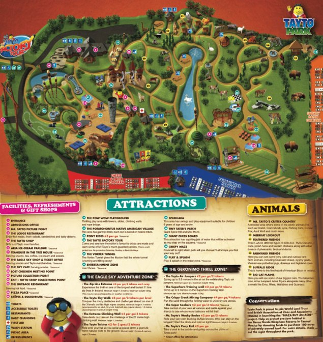 tayto park map