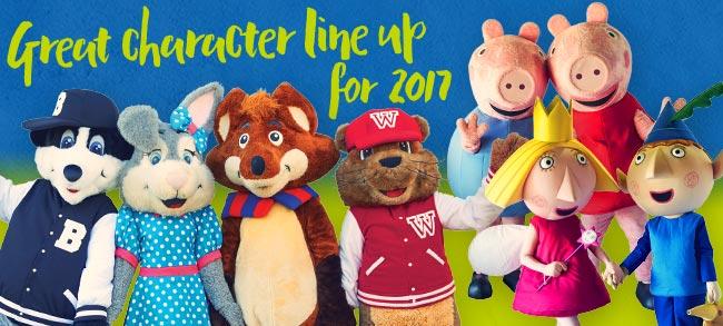 Trabolgan Holiday Village 2017 Characters