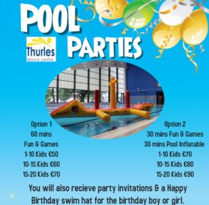 Thurles leisure centre pool parties