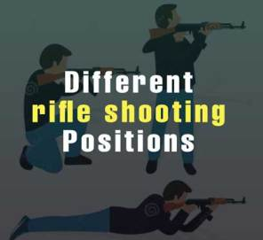 Different rifle shooting positions