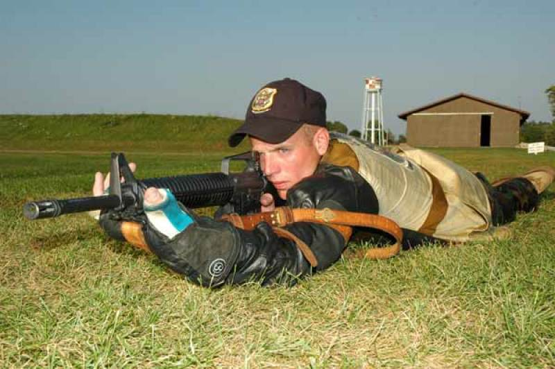 prone shooting position