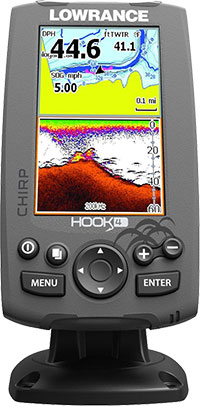 Lowrance Hook 4 Sonar GPS - Display Capacity