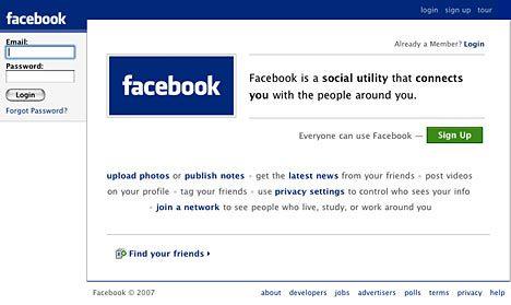 Facebook介面 (2007)