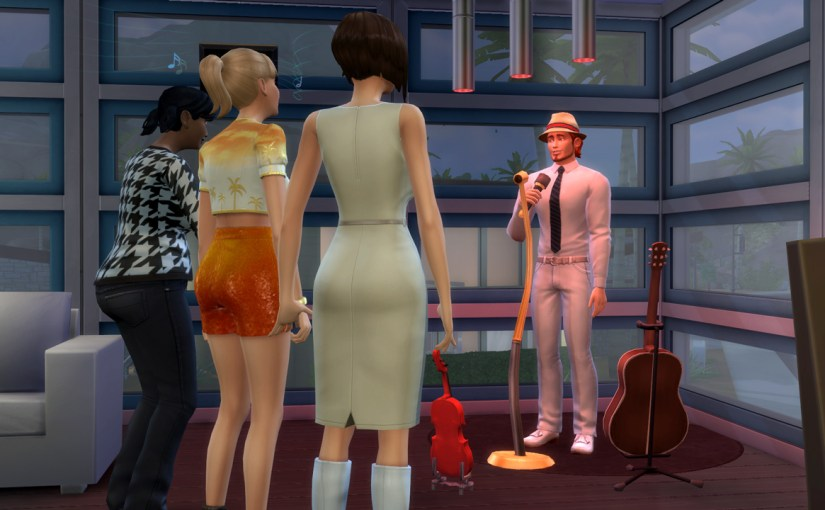 Randall Wood performs his comedy act at The Solar Flare lounge in Oasis Springs.