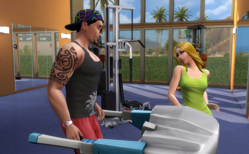 Don Lothario and Babs L'Amour flirt with each other at Burners and Builders gym.