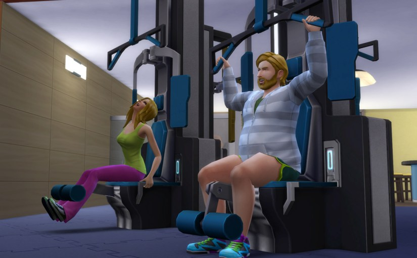 Babs L'Amour and Steve Fogel working out at Burners and Builders gym in Oasis Springs.