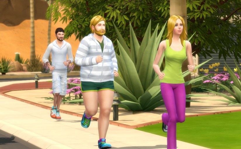 Andre DaSilva, Steve Fogel and Babs L'Amour go jogging around the neighbourhood.