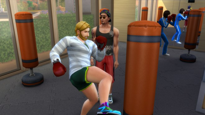 Don Lothario mentos Steve Fogel in fitness at Burners and Builders gym.