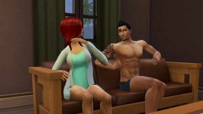 Don Lothario shows his sexy pose to Katrina Caliente.