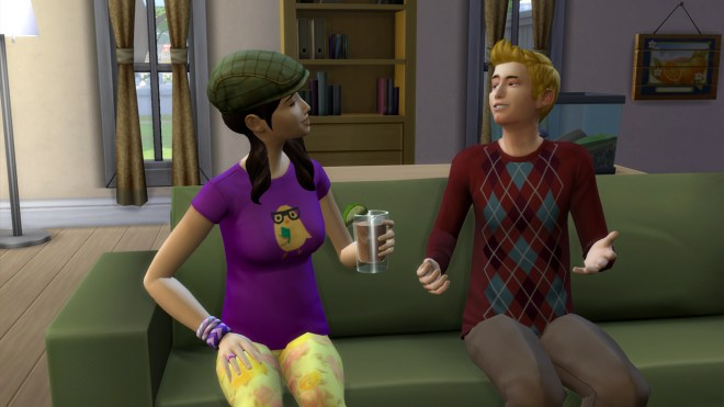 Liberty Lee and Travis Scott flirting at their home in Willow Creek.