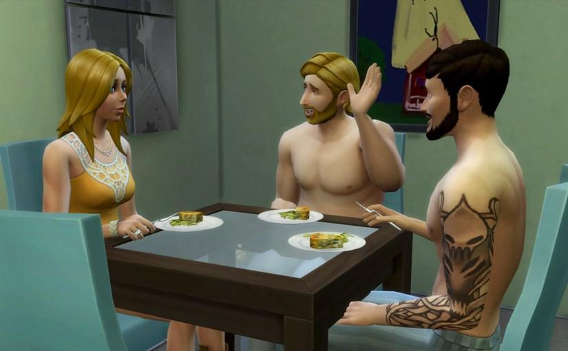 Babs L'Amour, Steve Fogel and Andre DaSilva have breakfast.