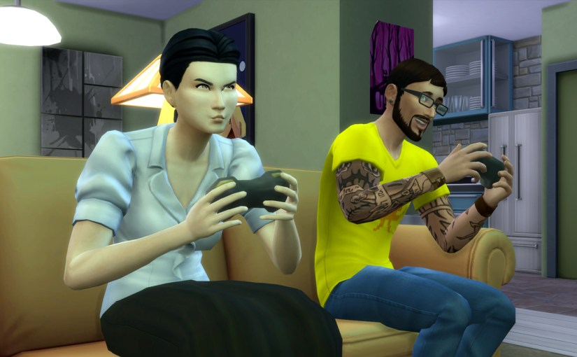 Amie Irvin and Andre DaSilva play console games.